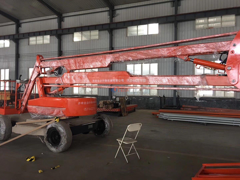 <b>江苏自行14米折臂升降机发货</b>